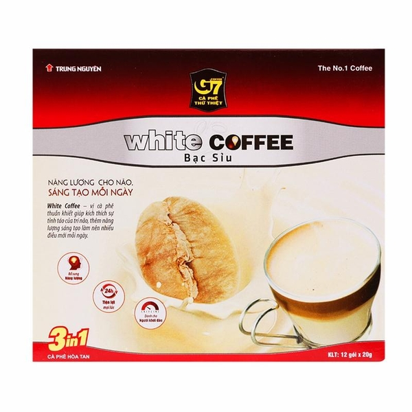 Instant White Coffee G7 3in1 12 X 20G