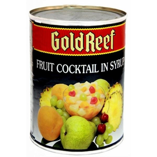 HOA QUẢ TỔNG HỢP GOLD REEF FRUIT COCTAIL HEAVY SYRUP 500G.825G