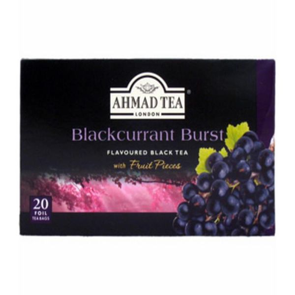 Trà Ahmad Blackcurrant Burst Flavoured Black Tea 40g