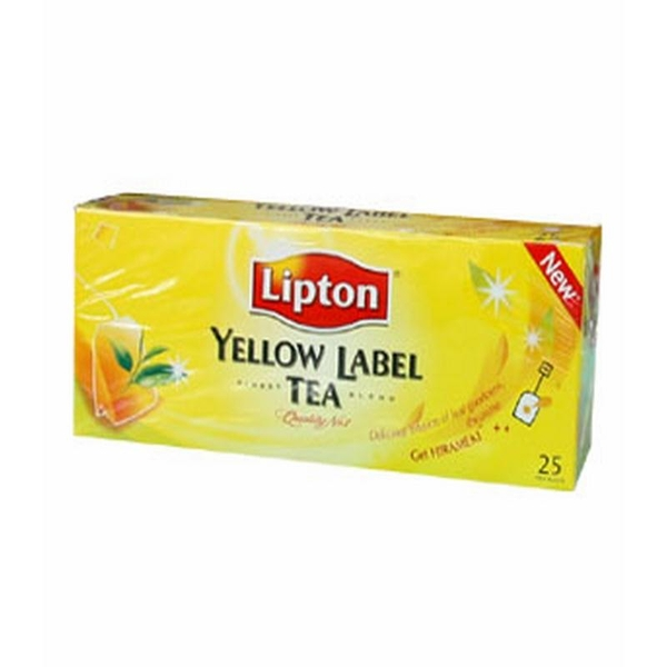 Trà Lipton Yellow Label tea 25 góix2gr