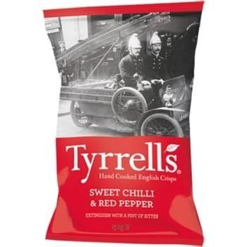 Khoai Tây Chiên Tyrrells Potato Chips Sweet Chilli & Red pepper 150gr