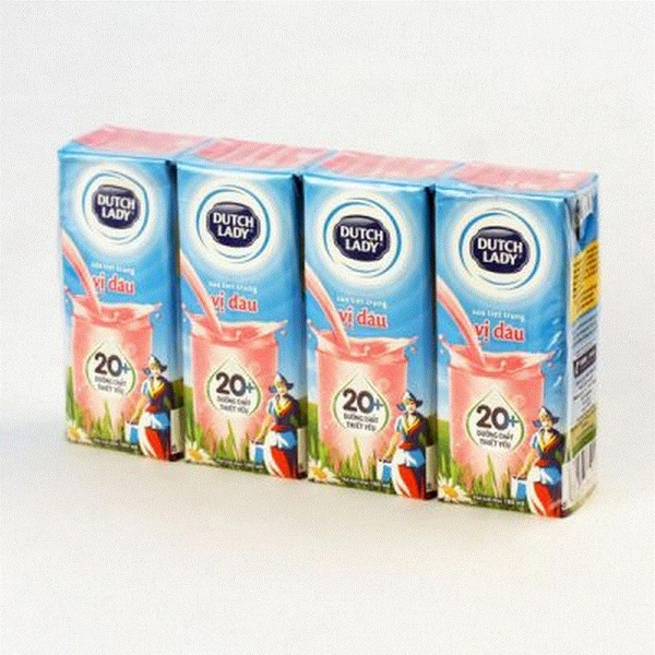Sữa tươi vị dâu Dutch Lady Strawberry flavor fresh milk 180ml
