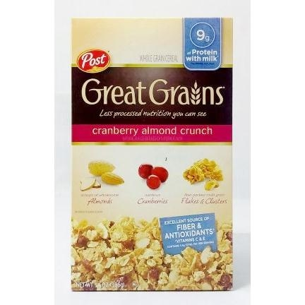 Ăn Sáng POST Great Grains cranberry almond crunch 396g