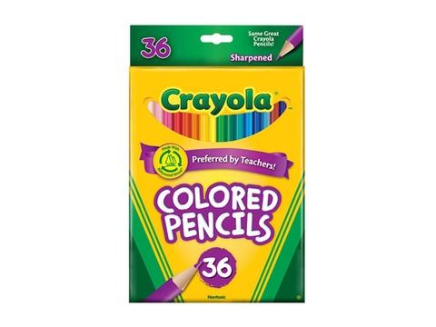 Hộp đựng Crayola Bút chì 36 màu dạng dài
