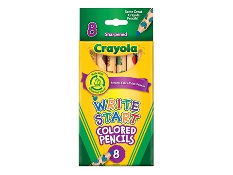 Hộp đựng bộ Crayola Bút chì 8 màu loại lớn