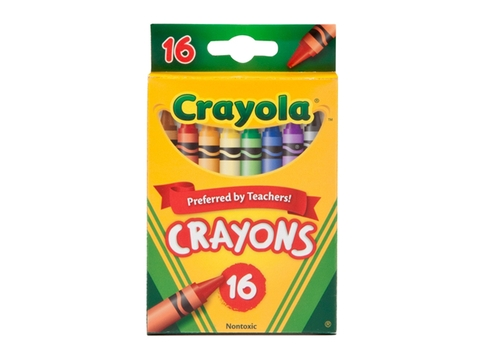 Hình ảnh vỏ hộp bộ Crayola Bút sáp 16 màu