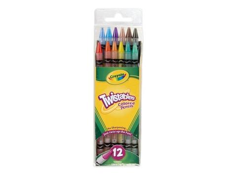 Túi đựng bộ Crayola Bút chì 12 màu dạng vặn