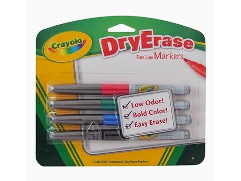 Hình ảnh vỏ hộp bộ Crayola Bút lông viết bảng 4 màu