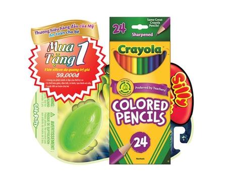 Combo Crayola Chì 24 màu và Viên Nhựa Dẻo Silly Putty giá rẻ tiết kiệm tiền cho bố mẹ