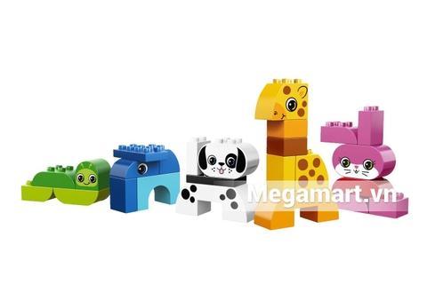 Toàn bộ các chi tiết có trong bộ xếp hình Lego Duplo 10573 - Sáng Tạo Động Vật