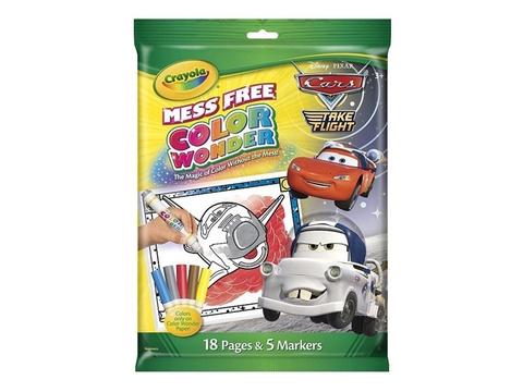 Hình ảnh vỏ hộp bộ Crayola Bút lông tô màu kèm giấy hình ô tô