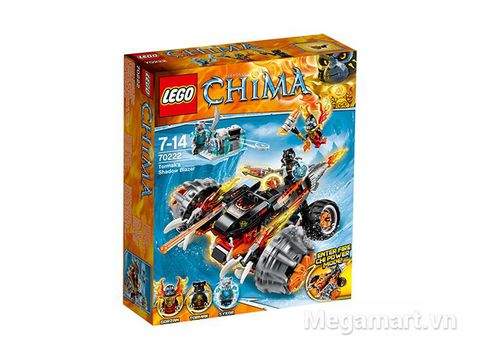 Hình ảnh bên ngoài sản phẩm Lego Chima 70222 - Xe Chiến Đấu Của Tormak
