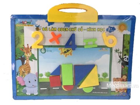 Antona Bảng nam châm học Toán và hình học - bộ đồ chơi mới