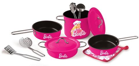 Các chi tiết có trong Barbie Bộ 11 dụng cụ nấu ăn Barbie hồng sen