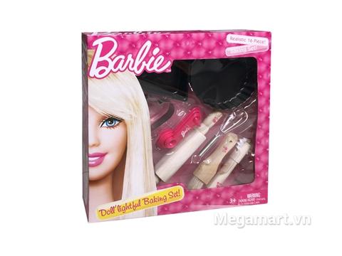 Hình ảnh minh họa cho sản phẩm đồ chơi búp bê Barbie Bộ 16 món dụng cụ làm bánh Barbie