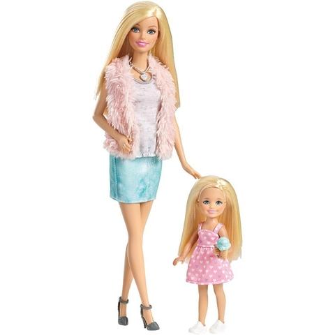 Mô hình 2 chị em Barbie cực dễ thương