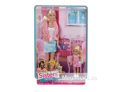 Hình ảnh vỏ bên ngoài đồ chơi Barbie Bộ 2 chị em Barbie