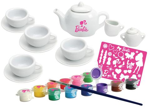 Hình ảnh chi tiết sản phẩm đồ chơi búp bê Barbie Bộ ấm trà Barbie tự thiết kế