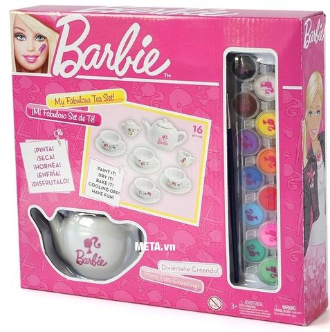 Barbie Bộ ấm trà Barbie tự thiết kế chất lượng cao cấp