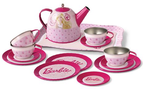 Cho bé những giờ phút vui chơi vui vẻ với Barbie Bộ ấm trà Barbie xinh xắn 15 món