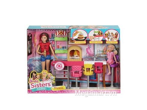Vỏ ngoài thực tế sản phẩm Barbie Bộ đồ chơi chị em Barbie