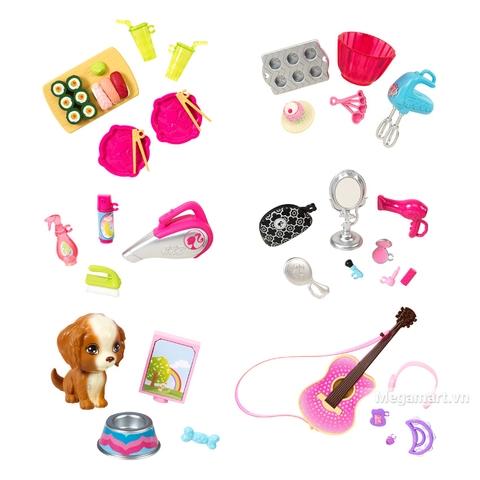 Barbie Bộ phụ kiện nhà cửa CFB50 - các loại phụ kiện có trong bộ sản phẩm này
