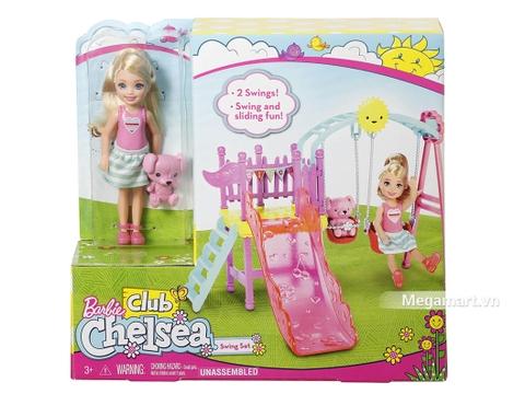 Barbie Bộ phụ kiện nhà cửa Chelsea DWJ46 với các chi tiết về xích đu của Chelsea
