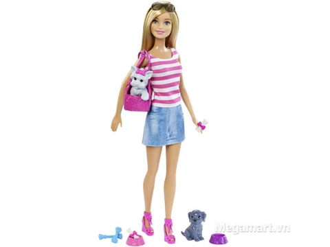 Barbie Bộ quà tặng Barbie và Thú cưng gồm nhiều chi tiết đẹp