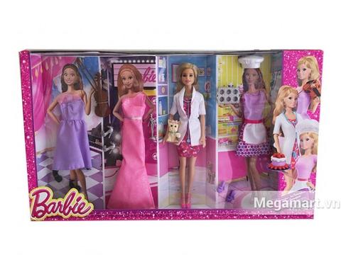 Vỏ ngoài đồ chơi Barbie Bộ sưu tập Barbie thời trang nghề