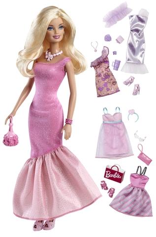 Chi tiết sản phẩm Barbie Bộ sưu tập thời trang với các trang phục và phụ kiện vô cùng lộng lẫy.