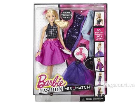 Barbie Bộ sưu tập thời trang sáng tạo - Váy tím với vỏ hộp và đóng gói chắc chắn