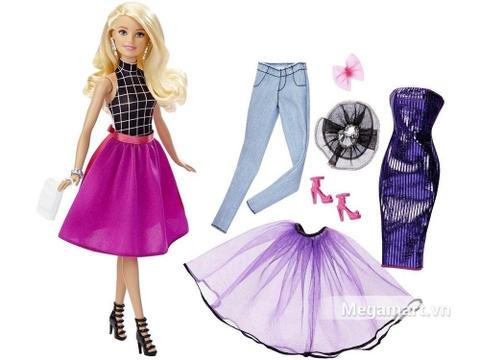 Barbie Bộ sưu tập thời trang sáng tạo - Váy tím gồm nhiều chi tiết đẹp