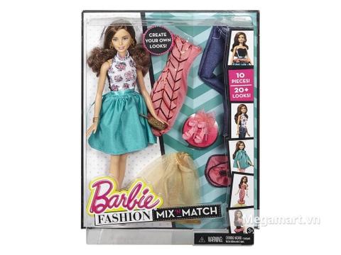Barbie Bộ sưu tập thời trang sáng tạo - Váy xanh với vỏ hộp và đóng gói chắc chắn