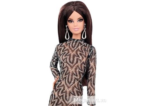 Đôi mắt của búp bê Barbie Bộ sưu tập thời trang thảm đỏ được gắn lông mi cầu kì