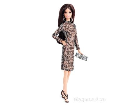 Ảnh búp bê Barbie thời trang thảm đỏ - Váy ren