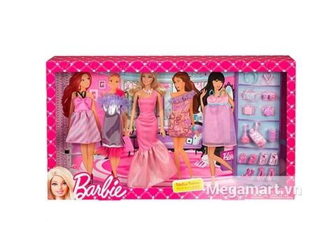 Barbie Bộ sưu tập thời trang làm từ nhựa tuyệt đối an toàn cho trẻ nhỏ