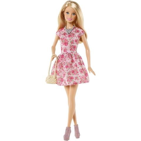 Búp bêBarbie Chị em Barbie- Sister Doll có mã CCP82 với trang phục váy in hình hoa hồng
