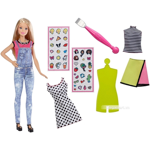 Barbie D.I.Y - Tạo mẫu thời trang gồm nhiều chi tiết đẹp
