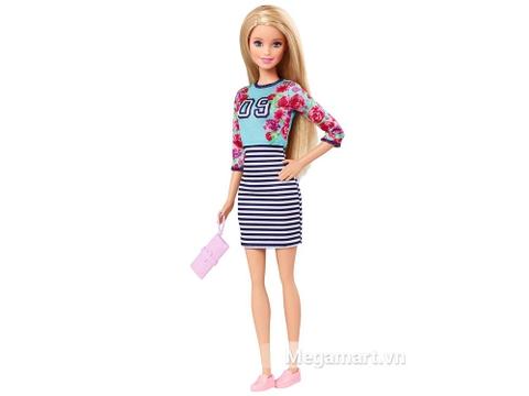 Barbie Fashionistas - Áo hoa và váy kẻ sọc thu hút mọi ánh nhìn với gương mặt dễ thương