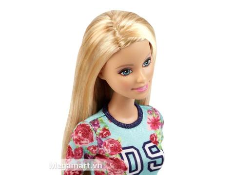 Đồ chơi Barbie Fashionistas - Áo hoa và váy kẻ sọc giúp nâng cao gu thẩm mỹ của bé