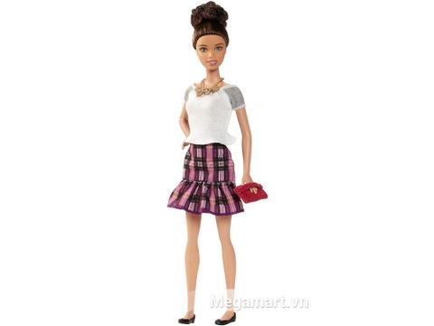 Barbie Fashionistas - Váy caro tím xinh xắn