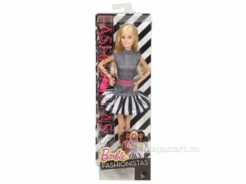 Hộp đựng Barbie Fashionistas - Váy họa tiết đen trắng