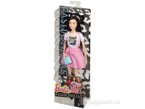 Đồ chơi Barbie Fashionistas - Váy hồng áo Meow khai phá phong cách thời trang của bé