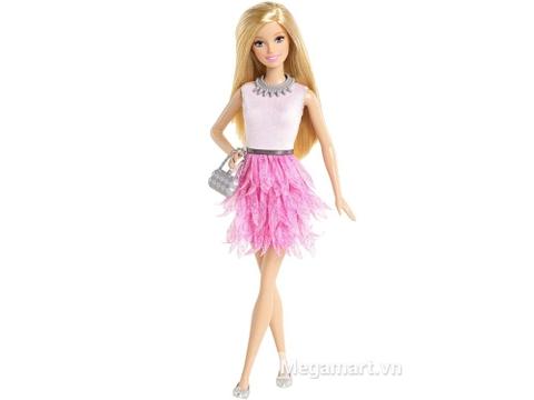 Barbie Fashionistas - Váy hồng lạ mắt