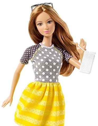 Barbie Fashionistas - Váy vàng & áo chấm bi duyên dáng