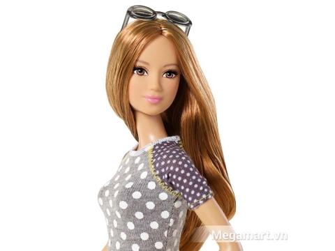 Đồ chơi Barbie Fashionistas - Váy vàng & áo chấm bi giúp phát triển kỹ năng cho bé