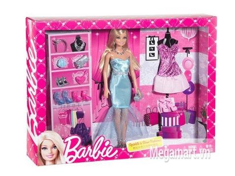 Hình ảnh vỏ bọc bên ngoài sản phẩm Barbie lung linh và lấp lánh