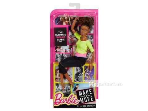 Barbie Made To Move - Áo vàng - Vỏ hộp của sản phẩm