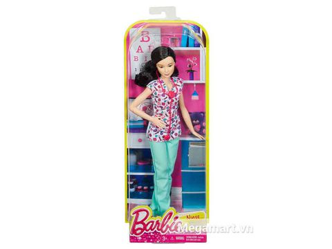 Barbie nghề nghiệp - Y tá Lea - Vỏ hộp của sản phẩm