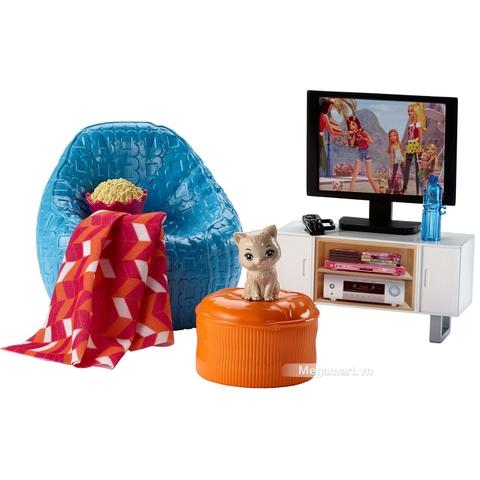 Barbie Nội thất nhà bếp - Buổi tối xem phim - nội thất độc đáo và hiện đại